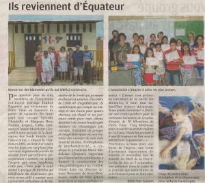 Article paru dans la Nouvelle République le 3 septembre 2015