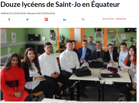 2019 11 23 - 1 - 12 lycéens de St Jo en Equateur